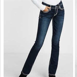 NWT Express low rise barely boot jeans sz 4